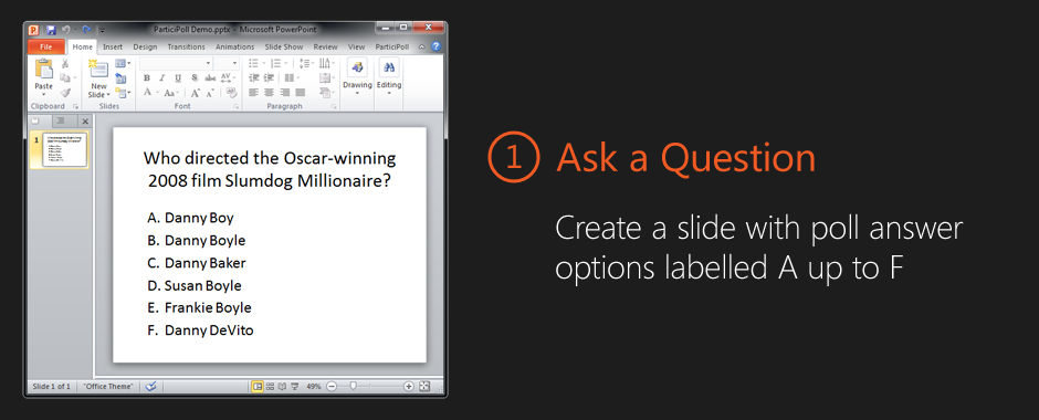 how to add speech into powerpoint